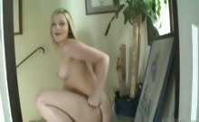 Super hot Alexis plays with big toys up her ass in your face