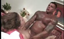 Busty tranny is pumped