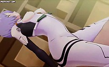 Animated doll dinking hot jizzload