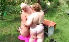 Fat Mature Lesbians Having Sex Outdoors