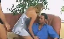 Blonde MILF In A Threesome