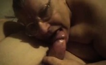 Old Granny Housewife Sucks Old Fat Husband At Home In Bed