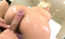 Anal princess Katja Kassin gets her tight oiled ass pounded